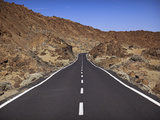 Road in El Teide National Park  UNESCO World Heritage Site  Tenerife  Canary Islands  Spain  Europe