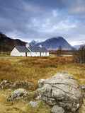 Black Rock Cottages and Buachaille Etive Mor  Rannoch Moor  Glencoe  Highland Region  Scotland