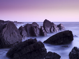 Waves Moving over Jagged Rocks at Hartland Quay  Cornwall  England  United Kingdom  Europe