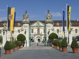 Carraige Entrance to 18th Century Baroque Residenzschloss  Ludwigsburg  Germany