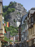 The Main Street with the Felsenkirche  Idar Oberstein  Rhineland Palatinate  Germany  Europe