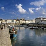Harbour and Abbey  St Martin  Ile de Re  Poitou-Charentes  France  Europe