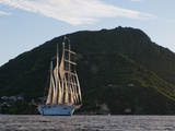 Star Clipper Sailing Cruise Ship  Terre de Haut  Guadeloupe  West Indies  French Caribbean