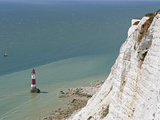 Beach Head Lighthouse  Near Eastbourne  East Sussex  England  United Kingdom  Europe