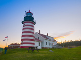 West Quoddy Lighthouse  Lubec  Maine  New England  United States of America  North America