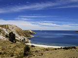 Bay on Isla del Sol  Lake Titicaca  Bolivia  South America
