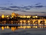 St Vitus Cathedral  Charles Bridge  UNESCO World Heritage Site  Prague  Czech Republic