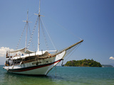 Schooner Cruising Between Different Beaches and Islands around Parati  Rio de Janeiro State  Brazil