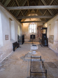 Inside the Chapel of the 14th Century Farleigh Hungerford Castle  Somerset  England  UK  Europe