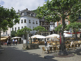 Market Square  Idar Oberstein  Famous for Gem Stones  on River Nahe  Rhineland Palatinate  Germany