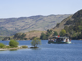 A Tourist Steamer on Lake Ullswater  Lake District National Park  Cumbria  England  UK  Europe