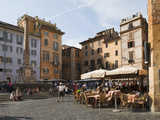 People at Outside Restaurant in Pantheon Square  Rome  Lazio  Italy  Europe