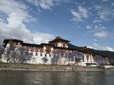 View of the Dzong in Punakha  Bhutan  Asia