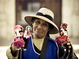 Woman Selling Hand-Made Dolls in Arequipa Plaza de Armas  Arequipa  Peru  South America