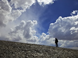 Climber in the Clouds Mount Chacaltaya  Cordillera Real  Bolivia  Andes  South America