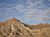 Badlands with Clouds  Badlands National Park  South Dakota  United States of America  North America