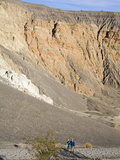 Hikers in Ubehebe Crater  Death Valley National Park  California  USA  North America