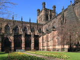 Cathedral  Chester  Cheshire  England  United Kingdom  Europe