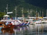 Colorful Fishing Boats in the Harbour  Parati  Rio de Janeiro State  Brazil  South America