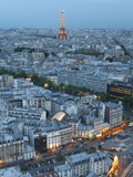 City and Eiffel Tower  Viewed over Rooftops  Paris  France  Europe