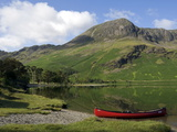 The Head of Lake Buttermere and High Stile  Lake District National Park  Cumbria  England  UK
