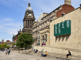 Leeds Library and Town Hall on the Headrow  Leeds  West Yorkshire  Yorkshire  England  UK  Europe