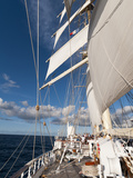 Star Clipper Sailing Cruise Ship  Deshaies  Basse-Terre  Guadeloupe  West Indies  French Caribbean