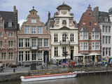 Baroque Style Flemish Architecture Along the Graslei  Ghent  Belgium  Europe