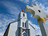 Church Near Pouebo on the East Coast of Grande Terre  New Caledonia  Melanesia  South Pacific