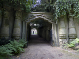 Entrance to Egyptian Avenue  Highgate Cemetery West  Highgate  London  England  UK  Europe