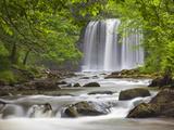 Sgwd yr Eira Waterfall  Brecon Beacons  Wales  United Kingdom  Europe