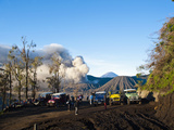 Tourist Jeep Tour at Mount Bromo  Bromo Tengger Semeru National Park  East Java  Indonesia