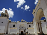 Basilica of Our Lady of Copacabana on the Shores of Lake Titicaca  Bolivia  South America