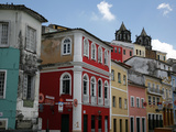 Cobbled Streets and Colonial Architecture  UNESCO World Heritage Site  Salvador  Brazil