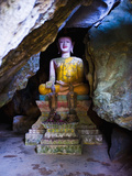 Buddha Hidden in the Tham Sang Caves  Vang Vieng  Laos  Indochina  Southeast Asia  Asia