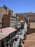 A High View of a Street in La Paz  Bolivia  South America