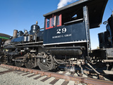 Old Steam Locomotive at Historic Gold Hill Train Station  Outside Virginia City  Nevada  USA