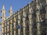 A Detail of Stonework Carving on 15th Century Late Gothic Town Hall  Grote Markt  Leuven  Belgium