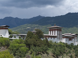 View of the Dzong in Bumthang  Bhutan  Asia