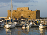The Harbour and Paphos Fort  Paphos  Cyprus  Mediterranean  Europe