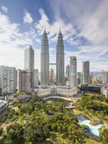 City Centre with KLCC Park Convention/Shopping Centre and Petronas Towers  Kuala Lumpur  Malaysia