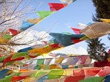 Prayer Flags Flying in Wind at Guishan Gongyuan Temple  Shangri-La (Zhongdian)  China
