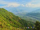 Annapurna Himal and Machapuchare Seen from Sarangkot  Gandaki Zone  Western Region  Nepal