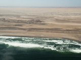 Aerial View of Skeleton Coast  Namibia  Africa