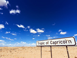 Tropic of Capricorn Sign  Namib Desert  Namibia  Africa