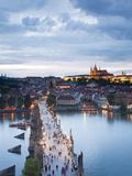 St Vitus Cathedral  Charles Bridge  River Vltava  UNESCO World Heritage Site  Prague Czech Republic