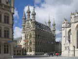 The 15th Century Late Gothic Town Hall in the Grote Markt  Leuven  Belgium  Europe