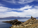 Rocks and Lake  Bahia Kona  Isla del Sol  Lake Titicaca  Bolivia  South America