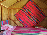 Bedroom  Uros Island  Islas Flotantes  Floating Islands  Lake Titicaca  Peru  South America