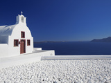 Church and White Stones at Oia  Santorini  Cyclades  Greek Islands  Greece  Europe